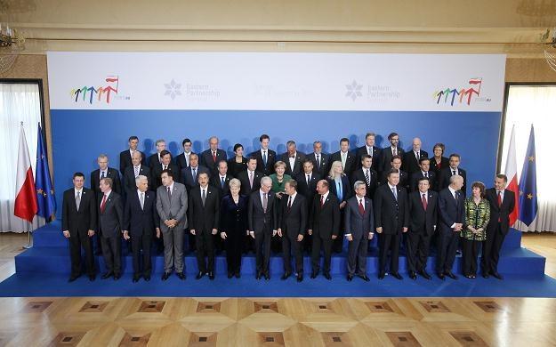 Szefowie delegacji przybyłych do Warszawy na obrady Szczytu PW, fot. P. Supernak /PAP