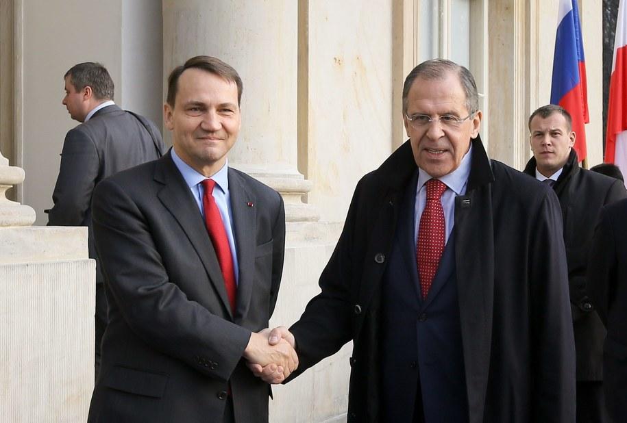 Szefowie dyplomacji Polski i Rosji / Paweł Supernak   /PAP