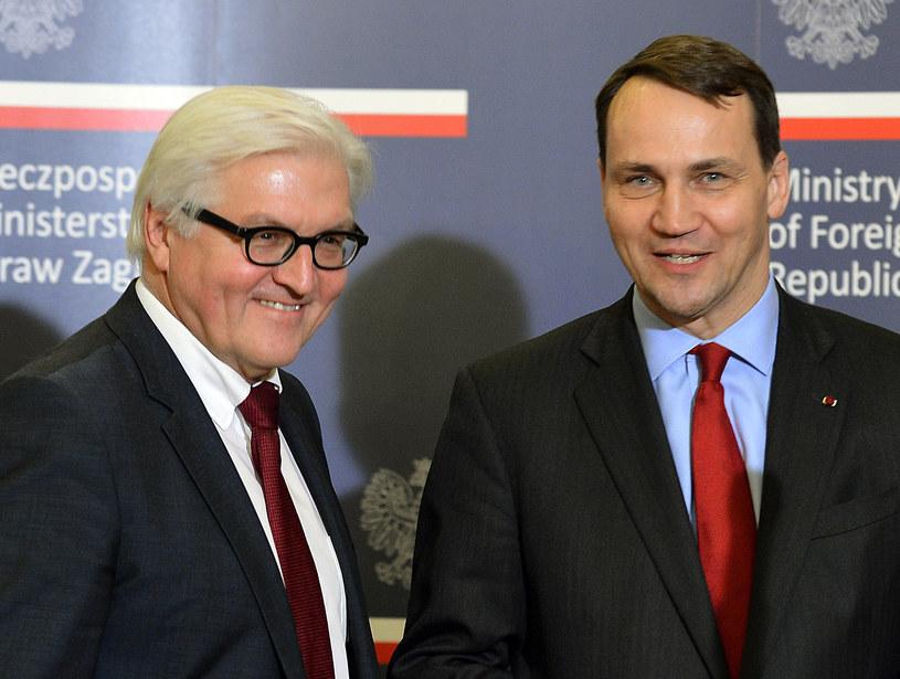 Szefowie MSZ Niemiec i Polski /AFP
