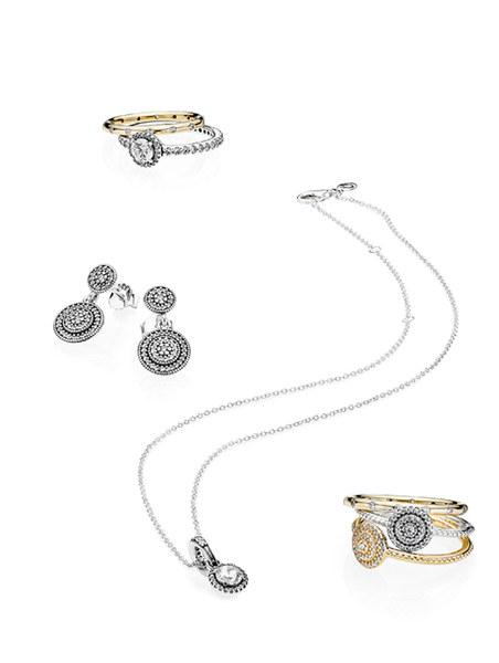 """Pierścionki złote i srebrne z sześciokątną cyrkonią <a href=""""http://www.pandora.net/pl-pl/products/rings """"class=""""more"""" style=""""color:#07336C"""">Sprawdź</a>"""