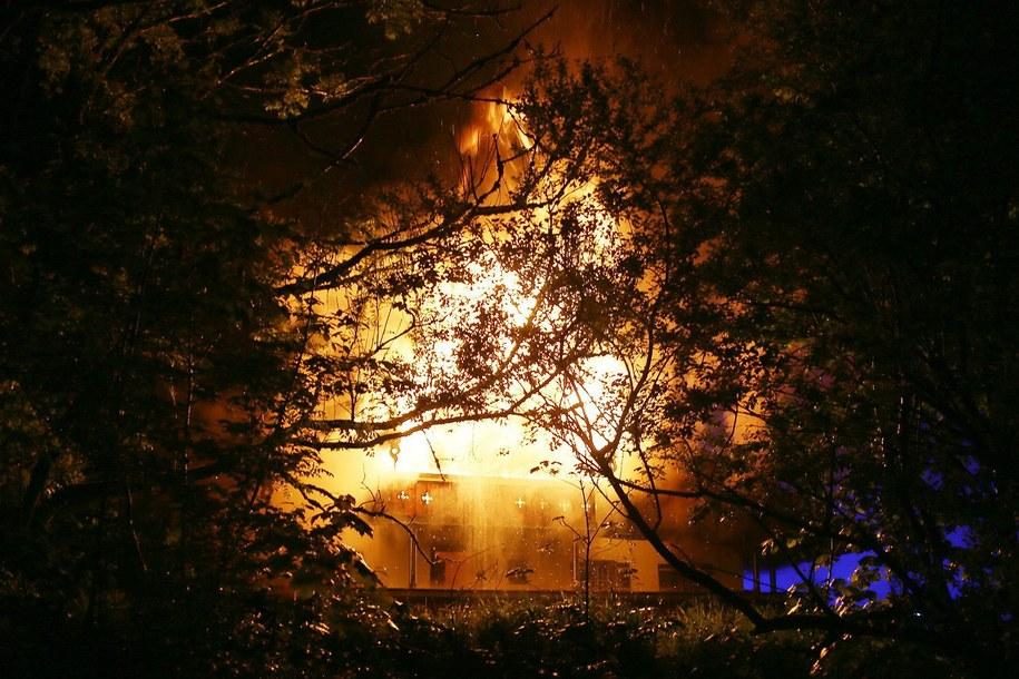 Sześć osób zginęło w pożarze kwatery turystycznej /MARKUS LEITNER/BRK/HANDOUT /PAP/EPA