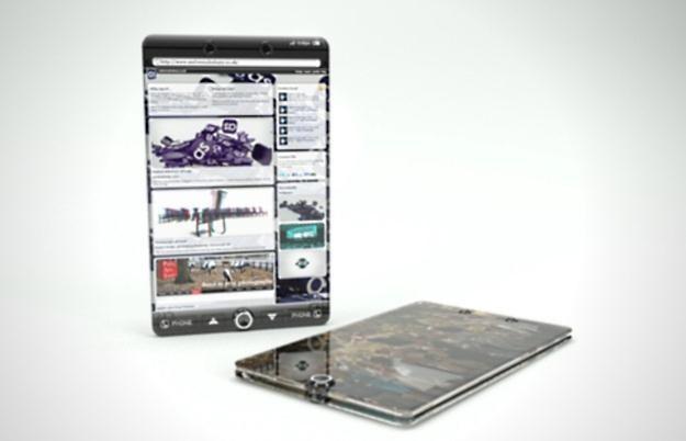Szklany telefon - wygląda ciekawie, ale jest zbyt kruchy  fot. behance.net /Komórkomania.pl