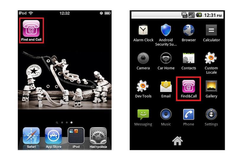 Szkodliwa aplikacja Find & Call dla systemu iOS oraz Android /materiały prasowe