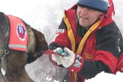 Szkolenie psów lawinowych w Tatrach