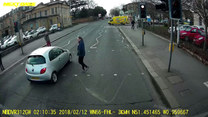 Szokujące nagranie z przejścia dla pieszych