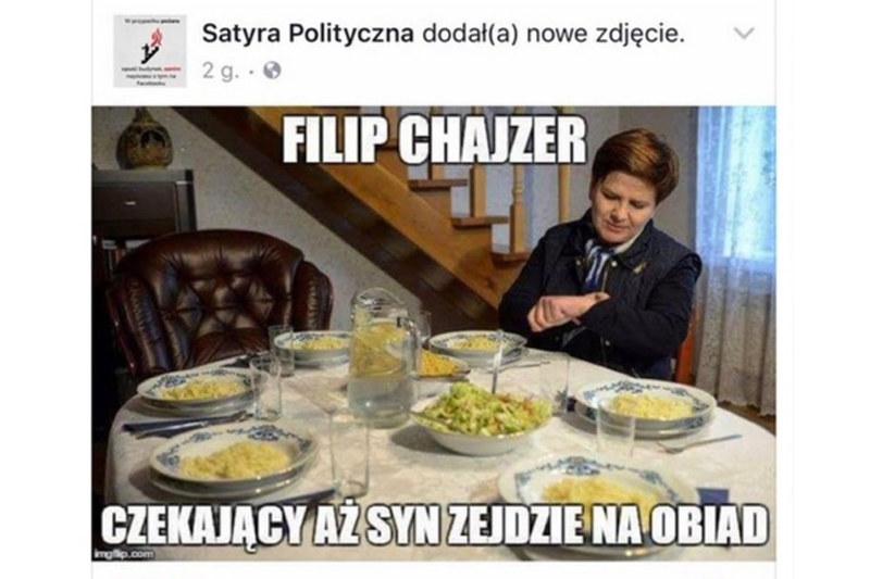 Szokujący mem udostępniony przez Satyrę Polityczną /Internet