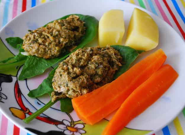 Szpinak z warzywami i cielęciną /Rodzice w kuchni