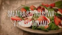 Szpinakowa sałatka z truskawkami