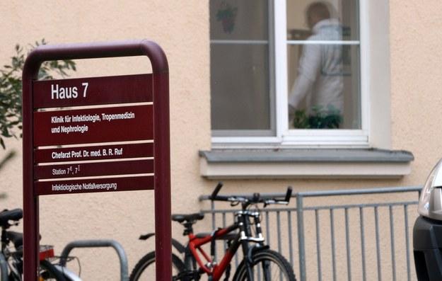 Szpital w Lipsku, gdzie zmarł pacjent chory na ebolę /PAP/EPA