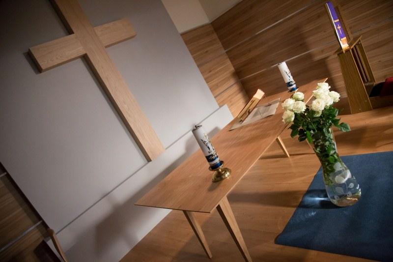 Szpitalna kaplica: Miejsce, w którym pacjenci i ich rodziny mogą wziąć udział w mszy świętej albo oddać się modlitwie /Agencja W. Impact