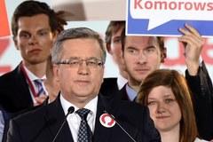 Sztab wyborczy Bronisława Komorowskiego tuż po ogłoszeniu wyników