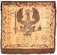 Sztandar Wojska Polskiego z 1807 r. /Encyklopedia Internautica