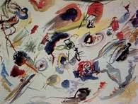 Sztuka abstrakcyjna:Wassily Kandinsky, Akwarela abstrakcyjna, 1910 /Encyklopedia Internautica