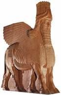 Sztuka asyryjska: Lamassu z pałacu Sargona II, ok. 710 r. p.n.e. /Encyklopedia Internautica