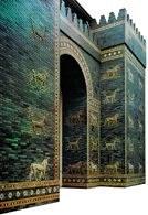 Sztuka babilońska, rekonstrukcja Bramy Isztar z ok. 575 p.n.e., Muzeum Pergamońskie, Berlin /Encyklopedia Internautica