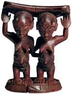 Sztuka Czarnej Afryki: drewniana figurka, Zair, XIX-XX w. /Encyklopedia Internautica