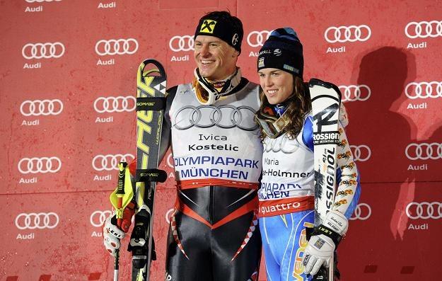 Szwedka Maria Pietilae-Holmner i Chorwat Ivica Kostelic /AFP