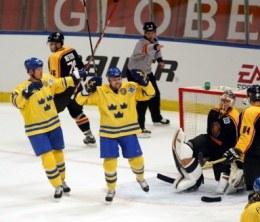Szwedzi świętowali drugie zwycięstwo /AFP
