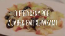 Szybka przekąska - dietetyczny por z jabłkiem i śliwkami
