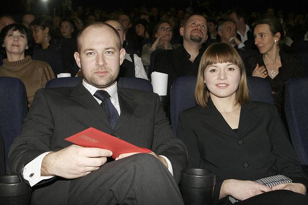 Szymon Bobrowski z żoną /- /AKPA