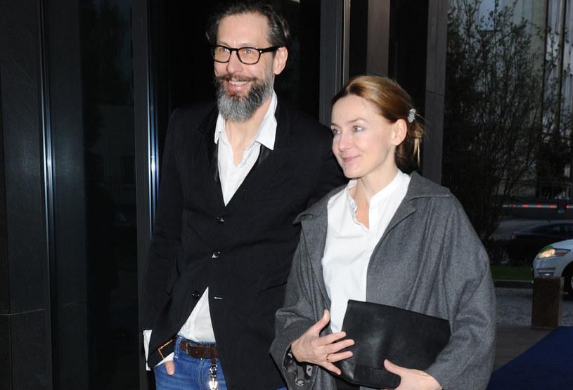 Szymon Majewski z żoną /Andrzejczak /MWMedia