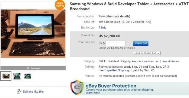 Tablet z Windows 8 już do kupienia na internetowej aukcji /gizmodo.pl