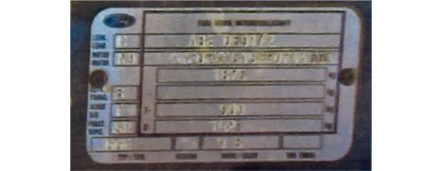 tabliczka /Motor