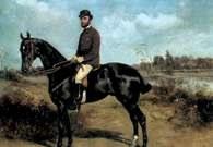 Tadeusz Ajdukiewicz, Portret Andrzeja Potockiego na karym koniu, ok. 1880 r. /Encyklopedia Internautica