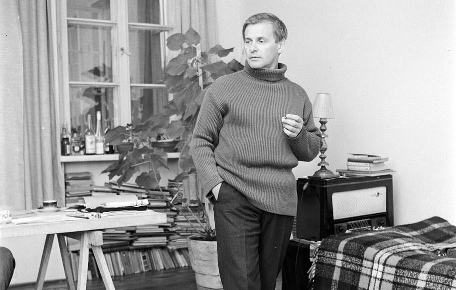 Tadeusz Łomnicki prywatnie - 1968 rok / PAP/CAF - Stanisław Dąbrowiecki  /PAP
