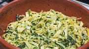 Tagliatelle z zielonym sosem