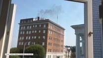Tajemniczy czarny dym z komina rosyjskiego konsulatu
