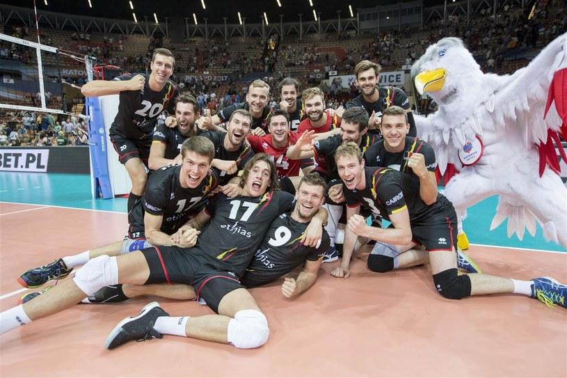 Tak cieszyli się Belgowie z awansu do półfinału ME /www.cev.lu