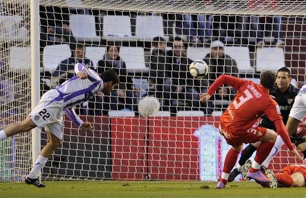 Tak Diego Costa strzelił pierwszego gola dla Valladolid /AFP