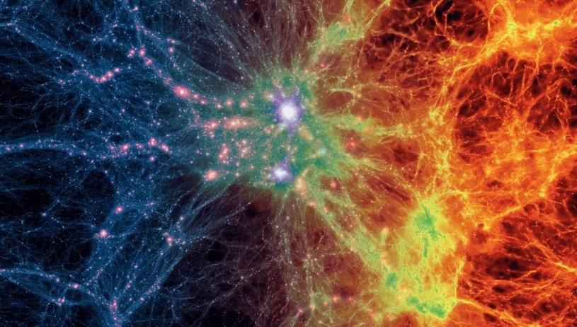 Tak dokładnej symulacji ewolucji wszechświata jeszcze nie było (Fot. Illustris) /materiały prasowe