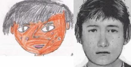 Tak dziewczynka zapamiętała pedofila. Obok portret sporządzony przez policję /Gazeta Codzienna