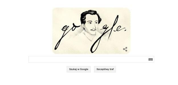 Tak Google Doodle uczcił rocznicę urodzin Słowackiego /