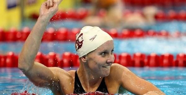 Tak Jessica Hardy cieszyła się podczas amerykańskich kwalifikacji /AFP