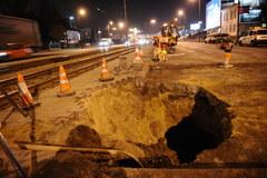 Tak jeszcze wczoraj wyglądała dziura w Warszawie