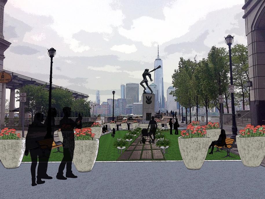 Tak ma wyglądać otoczenie Pomnika Katyńskiego w Jersey City po przeniesieniu monumentu /materiały prasowe /