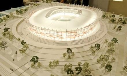 Tak ma wyglądać Stadion Narodowy w Warszawie /AFP
