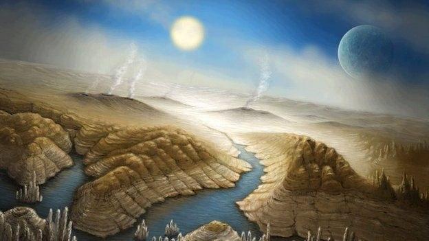 Tak mogą wyglądać krajobrazy na planecie Kepler-452b /NASA