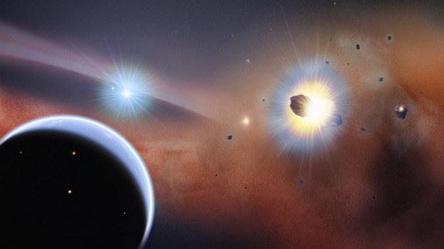 Tak mogą wyglądac zderzenia komet na orbicie gwiazdy Beta Pictoris /NASA's Goddard Space Flight Center/F. Redd /NASA