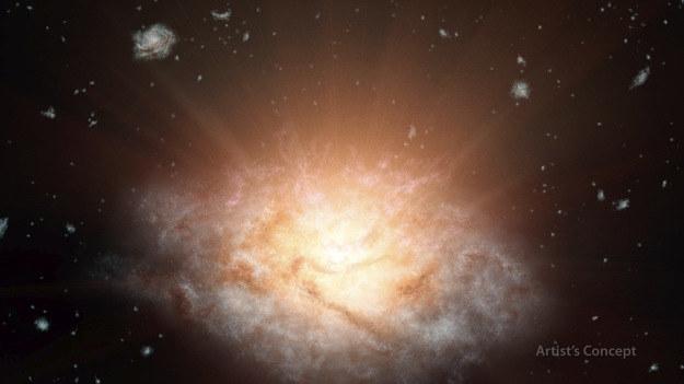 Tak można sobie wyobrażać WISE J224607.57-052635.0. /materiały prasowe