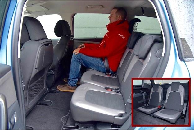 Tak powinno być w minivanie: trzy osobne, identycznej wielkości siedzenia można niezależnie od siebie przesuwać i regulować kąt pochylenia oparć. Fotele w bagażniku - za dopłatą 2000 zł. /Motor