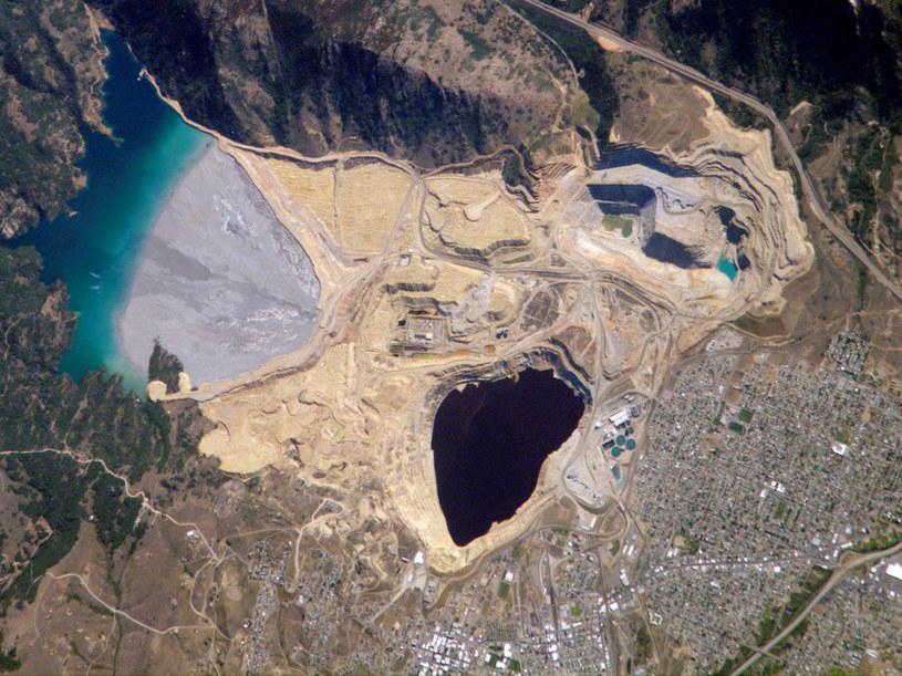 Tak prezentuje się Berkeley Pit z satelity /NASA