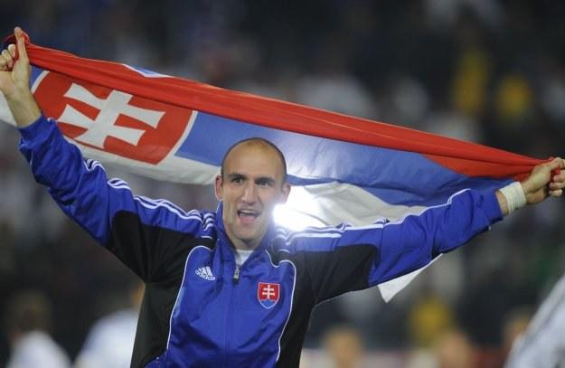 Tak Robert Vittek cieszył się po zwycięstwie nad Włochami /AFP