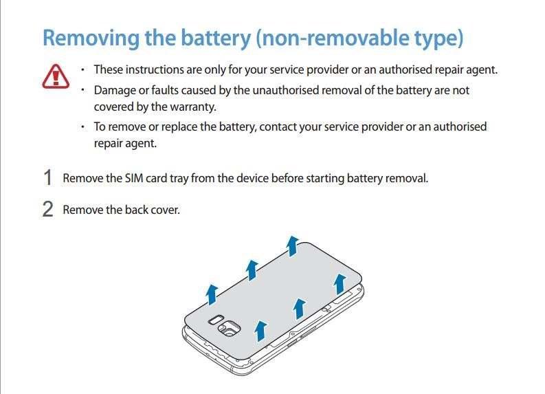 Tak rzekomo ma wygladać instrukcja wyjmowania baterii z Galaxy S6 - coś, czego oficjalnie robić (rzekomo) nie można /android.com.pl