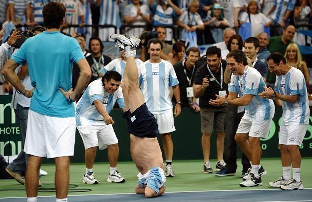 Tak tenisiści Argentyny świętowali awans do finału /AFP