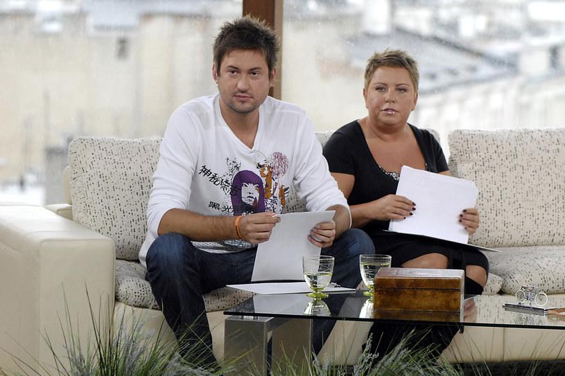 """Tak to się zaczęło... Marcin Prokop i Dorota Wellman w programie """"Dzień Dobry TVN"""" w 2007 roku /AKPA"""
