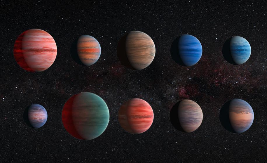 Tak według wyobraźni artysty mogą wyglądać badane w tej pracy planety /ESA/Hubble & NASA /materiały prasowe
